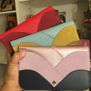 💯✅ Authentic Kate Spade Nadine Patchwork wallet